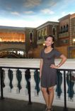 olive green dress at The Venetian Macao