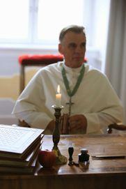 Dreh als Abt Dominikus II. Wagner des Prämonstratenserorde...