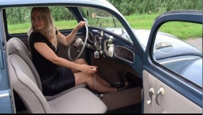 Angie and the 1952 VW