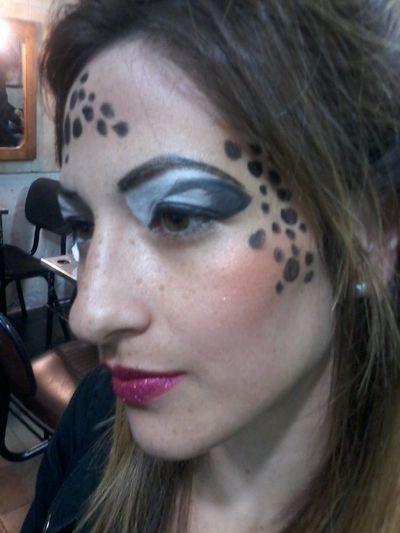 Hair and make up artists Dominique Brossard from Montevideo, Uruguay