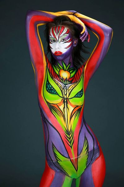 Abstract Body Paint