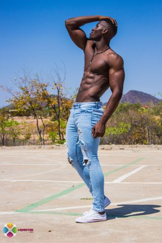 New face male model Rusmore from Zimbabwe