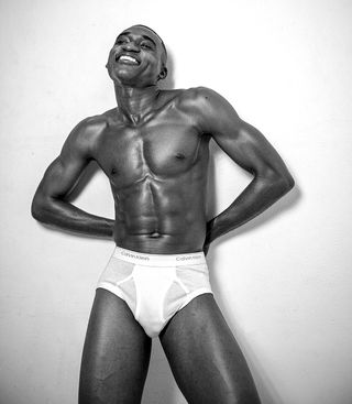 Professional model male model Romario from Jamaica