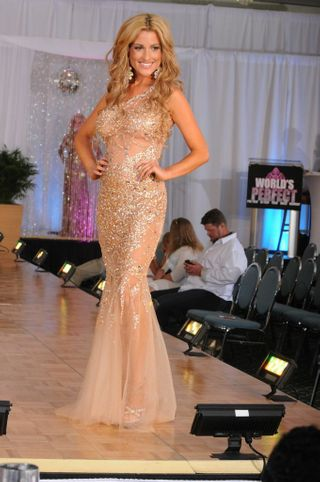 Kate Alicia Morgan wearing Jovani for 'World's Most Beautiful' award
