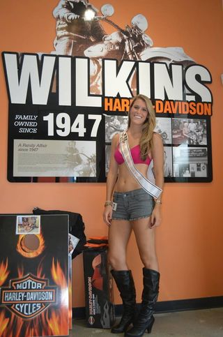 Wilkins harley-davidson beauty contest 2014