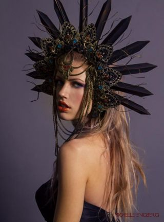 Dark Queen: Headdress & make up by Karla Medina