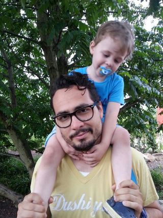 Sebastian Duque: together with my son