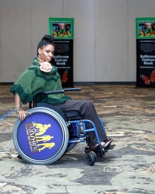 First wheelchair model in Baltimore Fashion Week