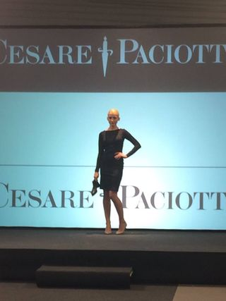 modeling/walking for Cesare Paciotti.