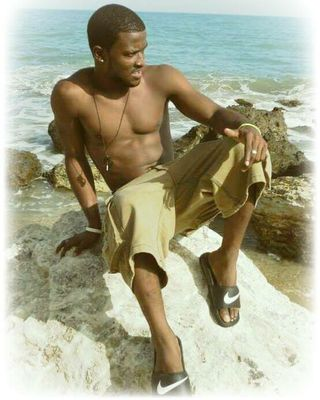 On the beach in Haiti