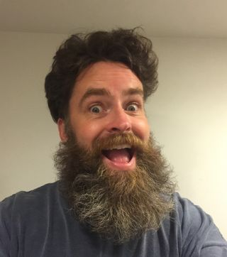 Crazy hair and beard