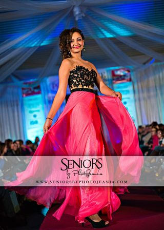 Modeling experience: Photo from prom dress fashion show