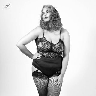 plus size glamour