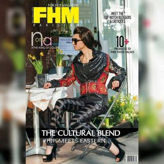 Modelling Pictures: Cover of FHM Pakistan - Modelling for Designer Mohsin Ali
