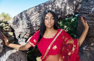 "shoot came from the idea of going ""back to my roots"" which would be from Indian descent"