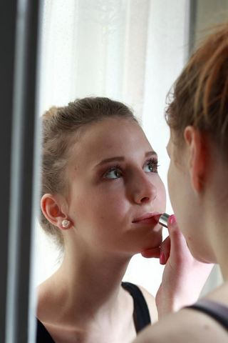 A start of something: photo of a shoot for makeup