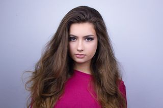 New face female model Eva from United Kingdom
