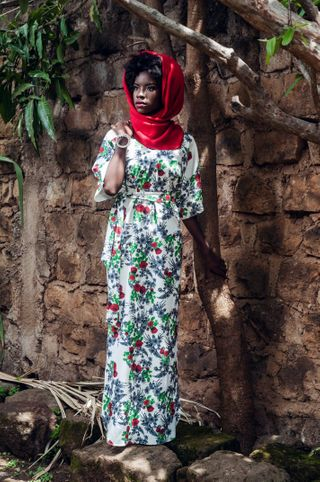 Outdoor shoot for Carole Kinoti Collection.