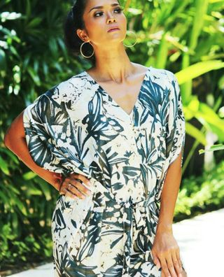 "Modeling for resort wear in Bali ""Amiga'"