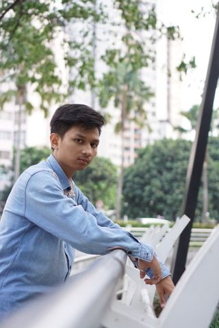 New face maschile modello Muhammad from Indonesia