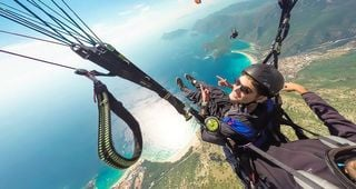 Spread your wings angel Once you have taken off you will become part of the sky enjoying the amazing scenery of #Oludeniz with my mate Burak Tuzer Thanks Turkey you were amazing