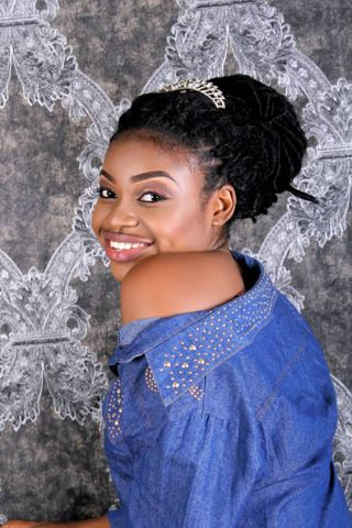 New face female model happiness from Nigeria