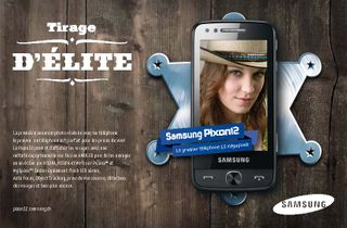 Samsung publicity for the new samsung pixon 12 in switzerland used october through december.