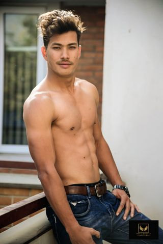New face masculino modelo Manish from Nepal
