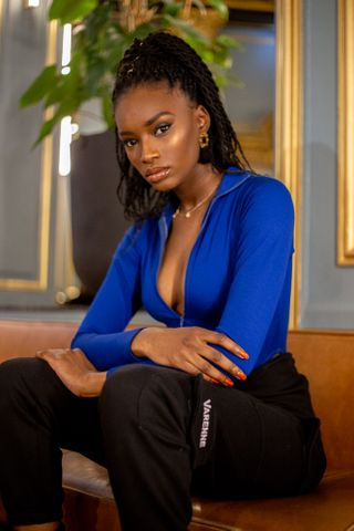 New face female model Oumou from France