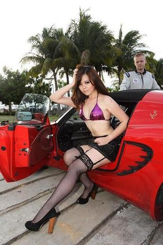 Photo Shoot Model for a Lingerie Brand with a Lotus Sports Car