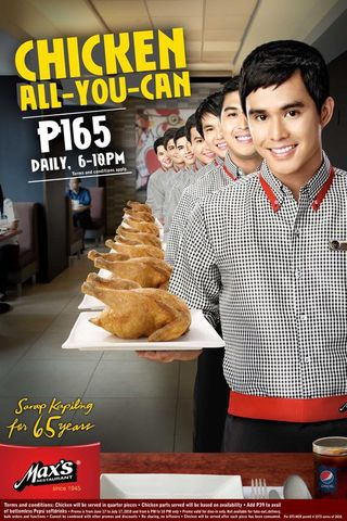 Profile Photos / Projects: Max's Restaurant's 65th Anniversary Promo 2010 (Philippines)