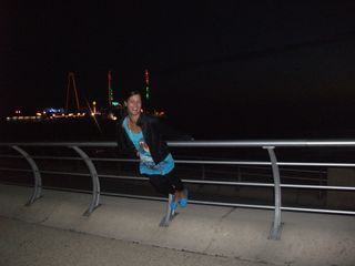 Night mode picture taken in Blackpool. Happy mood smilling shows happy mood at night