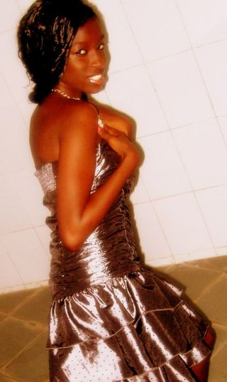 me in a shiny gown about to go out
