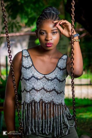 New face female model Ashley from Zambia