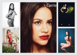 New face female model Carrie from United States