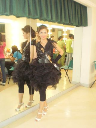me @ the dressing room preparing for my talent.. This was during the talent's night.