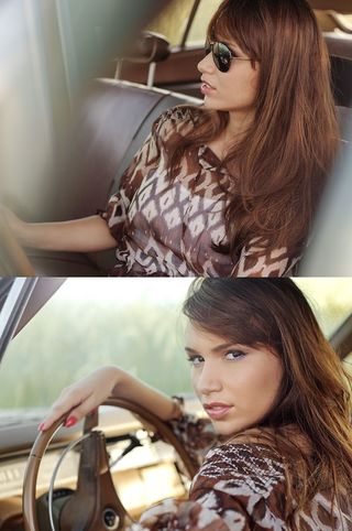 New face female model Lina from Germany