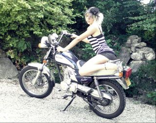 "Yuki Rima Tooya as ""Pin Up for a Ride."