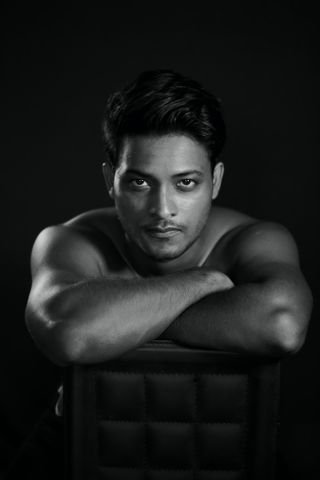 New face masculino modelo Mayur from Índia