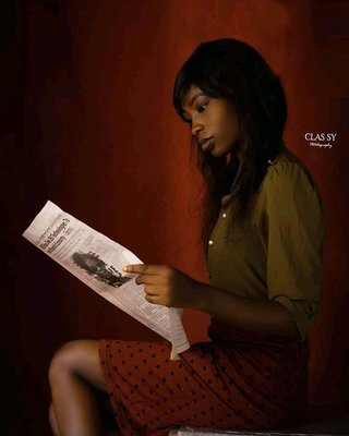 New face kobieta modelka, model Tofunmi from Nigeria
