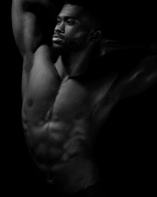 Professional model male model Chinedu from Russia