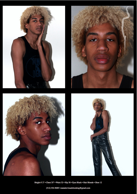 New face male model Brandon from United States