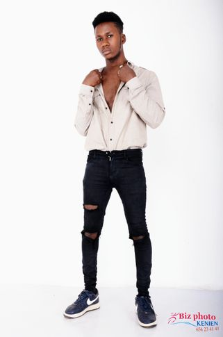 Male model ismael from Guinea