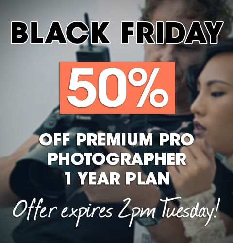 50% Off for Black Friday Photographers! US